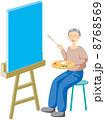 シニア 絵画 人物のイラスト 8768569