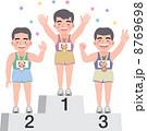スポーツ選手 表彰台 順位のイラスト 8769698