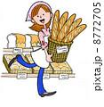 働く人13パン屋 8772705