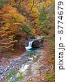 西沢渓谷 竜神の滝 紅葉の写真 8774679