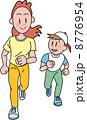 ジョギング ランニング 人物のイラスト 8776954