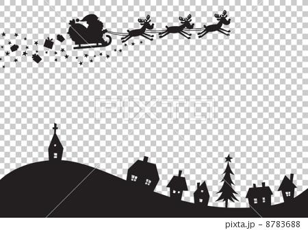 크리스마스 풍경 실루엣 8783688