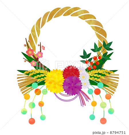 正月飾りのイラスト素材 8794751 Pixta
