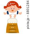 跳び箱 ベクター 女の子のイラスト 8801284
