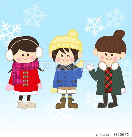 冬のおしゃれ女子のイラスト素材 8826675 Pixta
