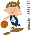 バスケットボールをする少年 8831452
