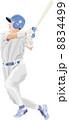 バッター 野球 人物のイラスト 8834499