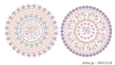 Circle pattern east designのイラスト素材 [8841316] - PIXTA