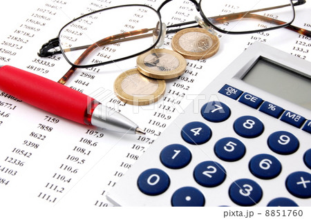 money on business numbersの写真素材 [8851760] - PIXTA