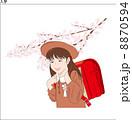 1年生 入学 人物のイラスト 8870594