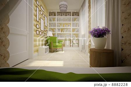 wooden house interiorのイラスト素材 [8882228] - PIXTA