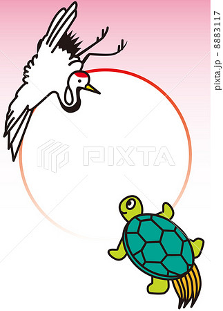 鶴と亀のフォトフレーム 8883117