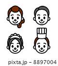 料理人とスタッフ 顔 8897004