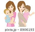 母子 乳児 ベクターのイラスト 8906193