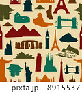 World landmark silhouettes pattern 8915537