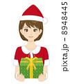 人物 女性 クリスマスのイラスト 8948445
