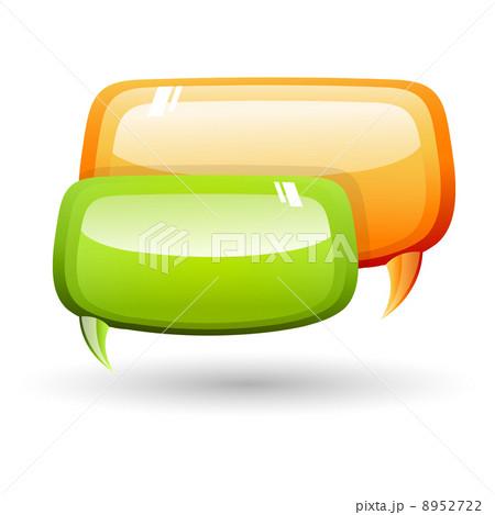 dialogue bubblesのイラスト素材 [8952722] - PIXTA