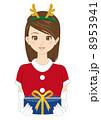 人物 女性 クリスマスのイラスト 8953941