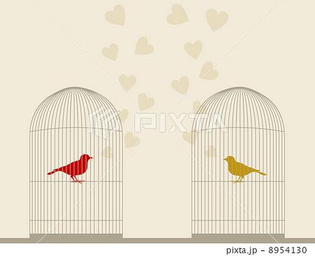 Bird of love4のイラスト素材 [8954130] - PIXTA