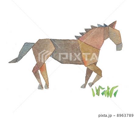 ハート 折り紙:折り紙 馬-pixta.jp