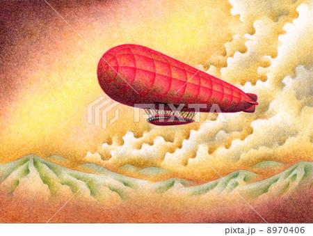 赤い飛行船 8970406