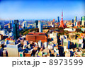 東京のビル群と東京タワー 8973599