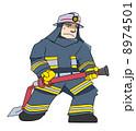消防士さん(紺色) 8974501