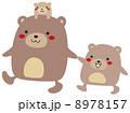 熊 ベクター 親子のイラスト 8978157