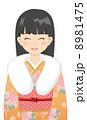 ベクター 女性 着物のイラスト 8981475