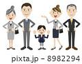 3世代 ベクター 家族のイラスト 8982294