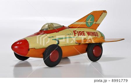 昭和30年代のブリキのおもちゃ ロケットカー 8991779