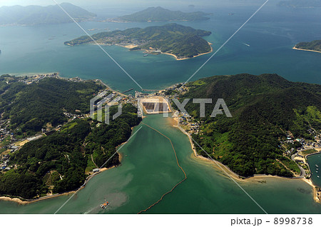 尾道市満越瀬戸を空撮の写真素材 [8998738] - PIXTA