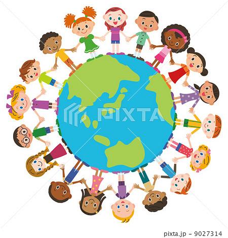 世界の友達と地球のイラスト素材 9027314 Pixta