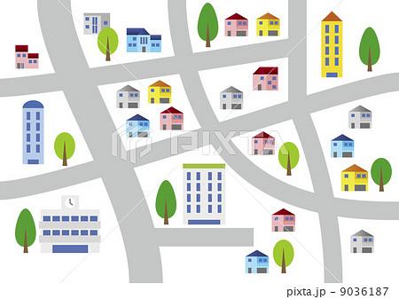 街の地図のイラスト素材 9036187 Pixta
