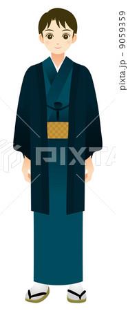 着物を着た男性のイラスト素材 9059359 Pixta