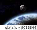 Surface Planet Earth and Moon 9086844