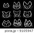 猫の顔セット 9105947