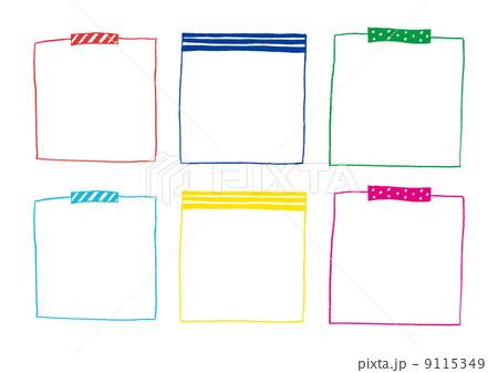手描き付箋の枠のイラスト素材 9115349 Pixta
