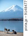 富士山と犬 9148477