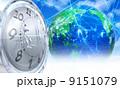 ロボット 時間 地球のイラスト 9151079