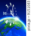 ロボット 時間 地球のイラスト 9151083