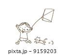 凧揚げ ベクター 子供のイラスト 9159203