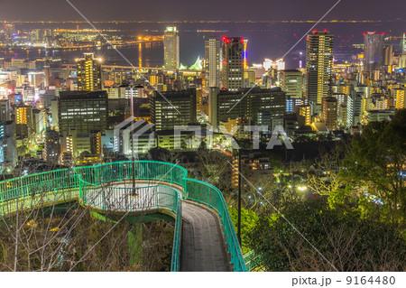 ビーナスブリッジと神戸の夜景 9164480