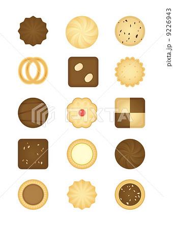 クッキーアソートのイラスト素材 9226943 Pixta