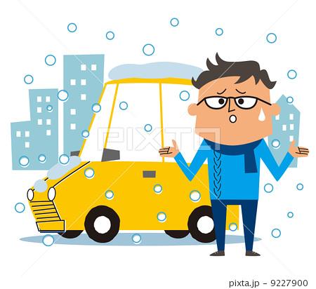 雪道 交通障害 人物 9227900