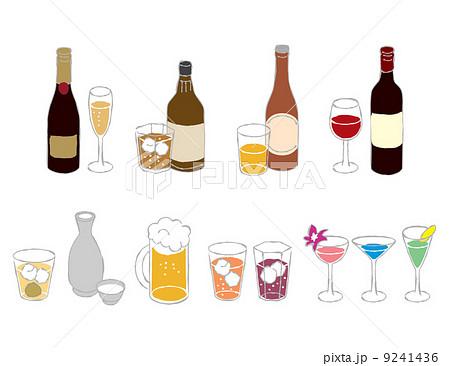 お酒いろいろのイラスト素材 9241436 Pixta