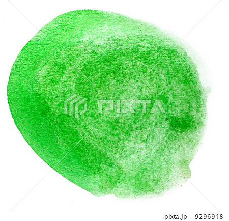 spot green art watercolor pointer texture isolated on a white baのイラスト素材 [9296948] - PIXTA