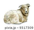 羊(アクリル画風) 9317309