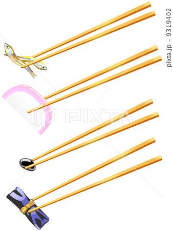 おせち料理と黄金の箸 9319402