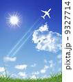 ジェット機 旅客機 飛行機のイラスト 9327714